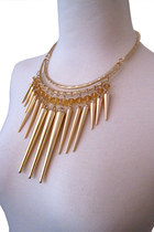 Unique Fashion ROCK CHIC SPIKE GLAM Necklace Earring Set- 2 colors 