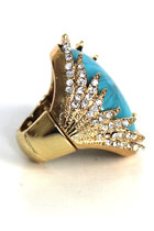 Vintage Glam Statement Cocktail RING- one Size