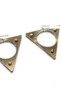 Mirror-triangle-earrings
