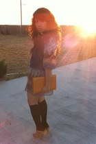 black rue21 dress - orange thrifted bag - tan Aldo shoes