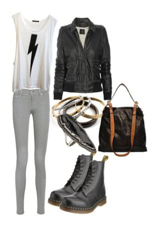 white top - black jacket - black boots - gold accessories - black bag