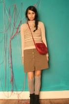 black DSW shoes - burnt orange brown-collard vintage from Ebay dress