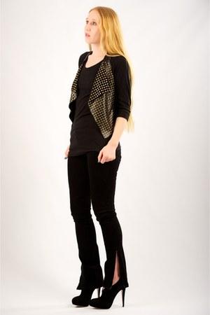 suede ankle Miu Miu boots - J Brand jeans - LnA top - Mike & Chris vest