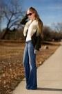 Light-blue-anita-flare-siwy-jeans-jeans-army-green-ann-taylor-loft-jacket-br