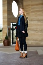 navy bomber ALC jacket - light brown ricci Kelsi Dagger boots