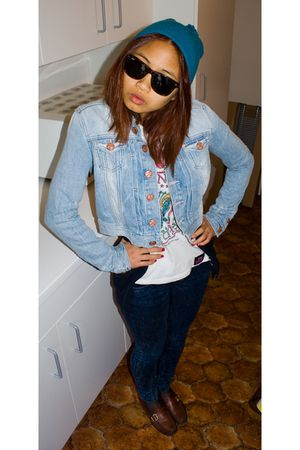 H&M jacket - vintage shoes - Zara t-shirt