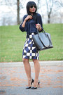 Navy-geometric-j-crew-skirt-black-zara-bag-black-christian-louboutin-pumps