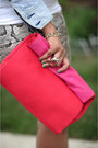 Periwinkle-denim-jacket-levis-jacket-hot-pink-zara-bag