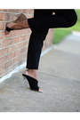 Black-zara-heels-dark-brown-snake-print-h-m-blouse-black-h-m-pants