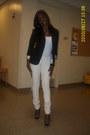 Heather-gray-shoes-white-pants-white-shirt-gray-blazer