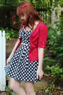 Navy-forever-21-top-ruby-red-short-sleeved-ann-taylor-cardigan