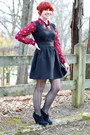 Black-ankle-heeled-xhileration-boots-black-poof-apparel-dress