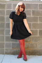 black lace top poof apparel dress - burnt orange Forever 21 tights