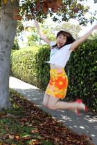 handmade skirt - American Apparel blouse - bait heels