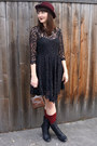 Sam-edelman-boots-free-people-dress-cotton-on-hat-vintage-purse