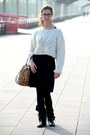 Black-military-zara-boots-black-basic-mango-dress-white-wool-zara-sweater-