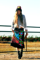 black buddha unknown brand skirt - black Jeffrey Campbell boots