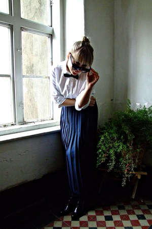 maxi skirt xnation skirt - Pitarello flats - thrifted vintage blouse