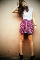 Forever 21 skirt - Report shoes - thrifted shirt
