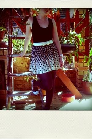FCUK skirt - Witchery top - Puma shoes - Oroton sunglasses