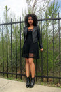 Black-leather-stuart-weitzman-boots-black-mesh-urban-outfitters-dress