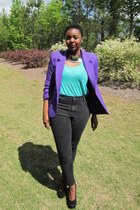 purple blazer