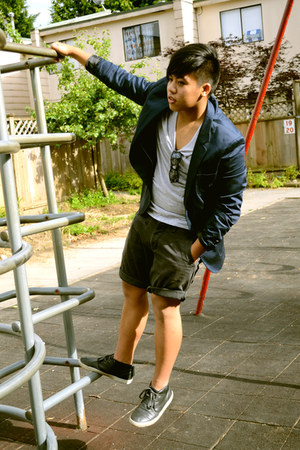 H&amp;M blazer - dying Aldo shoes - H&amp;M shirt - Esprit shorts