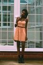 Pink-topshop-dress-black-ebay-shoes-beige-primark-bag-beige-primark-bracel