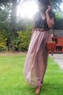 Satchel-vintage-bag-tan-asos-wedges-diy-skirt-qi-vest