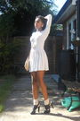 White-topshop-dress-black-ebay-shoes-beige-next-socks-gold-topshop-and-aso