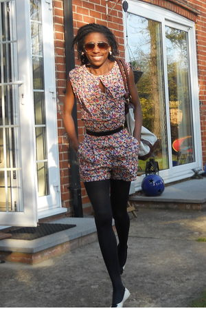 Topshop dress - Primark shoes - asos accessories - asos accessories - H&M sungla