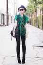 Peep-toe-sam-edelman-boots-vest-worn-as-vintage-dress-forever-21-hat