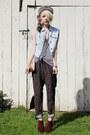 Crimson-jeffrey-campbell-shoes-light-blue-denim-vintage-vest-black-printed-v