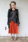 Tan-forever-21-boots-dark-brown-faux-fur-vintage-hat-black-biker-jacket-swor
