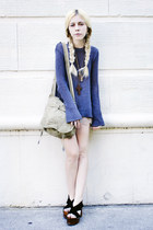 Scalloped Shorts & Bell-Sleeved Knit