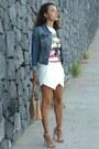 Suiteblanco-shirt-zara-shorts-zara-heels