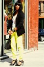 White-dkny-jeans-blazer-yellow-jogging-t-by-alexander-wang-pants-t-shirt