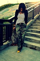 JNBY jacket - camouflage pants - Guess pumps