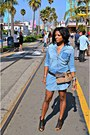 Sky-blue-denim-dress-black-dolce-vita-sandals