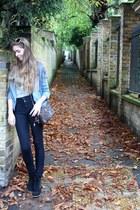 paul&joe jacket - Urban Outfitters jeans - Primark boots - Dolce&Gabbana bag