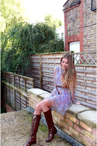 Mango dress - dark brown Massimo Dutti boots