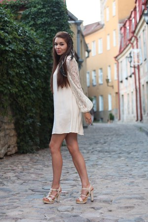 eggshell Topshop dress