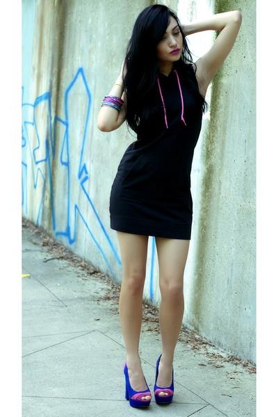 cotton H& dress - suede Steve Madden heels