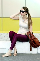 asos sunglasses - H&M flats - H&M pants - Sheinsidecom top