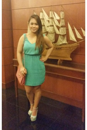 turquoise blue chiffon Sheinside dress