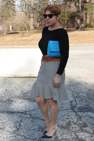 banana republic skirt - BCBGeneration shoes - Loft sweater - H&M bag