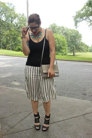 ann taylor pants - Aldo bag - JCrew necklace - Charlotte Russe sandals