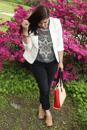 Aldo bag - American Eagle jeans - Forever 21 blazer - Skechers loafers