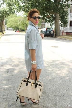 Michael Kors shirt - Aldo bag - Diesel watch - Guess sandals