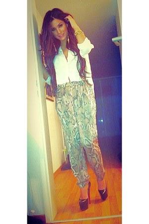Zara romper - H&M blouse - Louboutin pumps